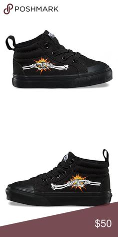 dc84c21bb1 Vans Racer Mid Bones  Black Kids 12 New These shoes are rad! Brand new