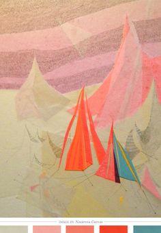 Artist: Nazarena Canvas  Image Via: Creature Comforts  #Prints #Patterns