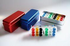 2pcs 18 Holes Dental Aluminum Endo Box Gutta Percha Points Holder Case…