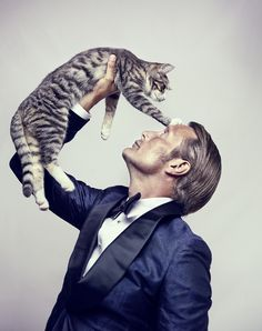 Mads with a cat. That is all.