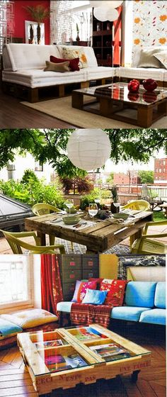 Pallets! outdoor table..yes please!
