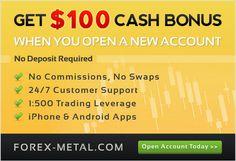 Forex Metal - Get 100 Instant Cash Bonus with New Account! http://world-forex-directory.blogspot.it/2013/12/bonus-offerti.html