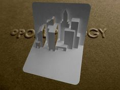 Pop Up New York Skyline Card Tutorial - Origamic Architecture - YouTube