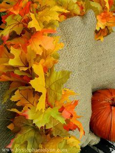 DIY fall leaf garland - easy too!