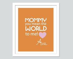 This would make a great gift for mom's birthday or Mother's Day. Can be made with any message and any color.