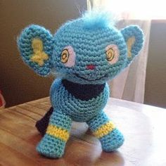 2000 Free Amigurumi Patterns: Shinx Pokemon Amigurumi