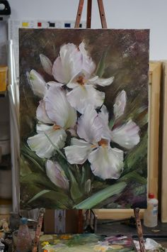 Oil Painting Flowers, Large Painting, Art Floral, Flower Artwork, Colorful Wallpaper, Pictures To Paint, Aesthetic Art, Creative Art, Art Projects
