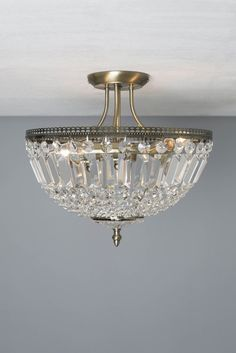 Estelle Basket Semi Flush Light
