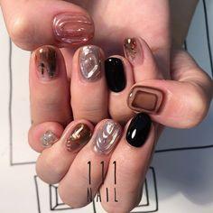 Pin by 今井 美香 on クリスタルネイル in 2020 Luv Nails, Bling Nails, Pretty Nails, Fingernail Designs, Nail Art Designs, Nails Design, Kawaii Nails, Spring Nail Art, Japanese Nail Art