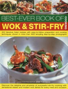 BestEver Book of Wok  Stir Fry Cooking 400 fabulous Asian recipes with easytofollow preparation and cooking techniques shown in more than 1600 tempting stepbystep photographs >>> More info could be found at the image url.Note:It is affiliate link to Amazon.