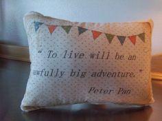 Handmade pillow Peter Pan home decor unique throw pillows baby room cushion gift