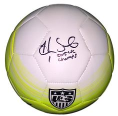d8a61e328 Hope Solo USA Soccer Signed Authentic Yellow Nike Soccer Ball 2015 WC  Champs JSA