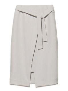 巻きディティールスカート(膝丈スカート) Mila Owen(ミラ オーウェン) ウサギオンライン公式通販サイト