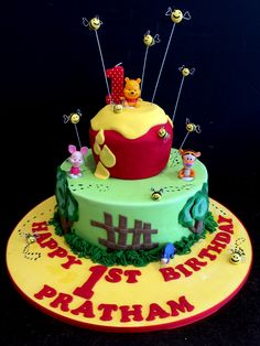 Say hello to Winnie the Pooh and the gang! Make someone happy with a birthday cake made by http://amayzingcakes.com.au :)