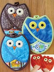 Sewing Patterns - Who Owl Pot Holders Pattern