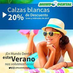 Abril trajo a #MundoDentalPty muchos descuentos!  Cada lunes y miércoles de abril puedes disfrutar de un 20% de descuento en calzas blancas. >>Sonríe es verano! . #Verano #Panama #DentistaEnPanama