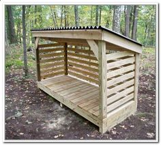 Amazing Shed Plans - How To Build A Firewood Storage Shed - Now You Can Build ANY Shed In A Weekend Even If You've Zero Woodworking Experience! Start building amazing sheds the easier way with a collection of shed plans! Diy Storage Shed Plans, Wood Storage Sheds, Wood Shed Plans, Wooden Sheds, Diy Shed, Storage Rack, Garage Plans, Barn Plans, Fire Wood Storage Ideas