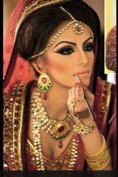Love her makeup.. beautiful bride