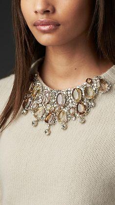 Gem-Embellished Cashmere Sweater | Burberry