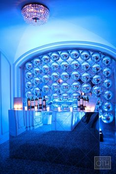 bar idea & blue lighting.