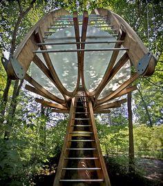 Treehouse by John DiLello, via Flickr  At Tyler Arboretum