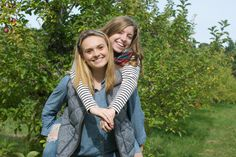 Fall friends photos in New England; apple picking