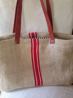 Grain Sack Tote Bag European By Dunnbydesigns On Etsy