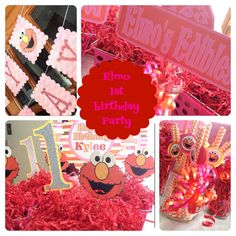 Elmo 1st Birthday Party Decor for girl