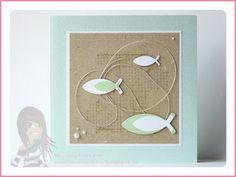 Stampin' Up! rosa Mädchen: Konfirmations-/Kommunionkarten mit Off the grid und Fischen