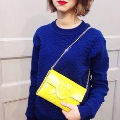 Keep it colorful! Mini Clutch - Yellow | MeDusa #Vegan #Sustainable