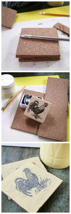 How to make your own cork coasters. These would make awesome Christmas gifts!