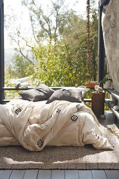 Ultra cozy bed on floor