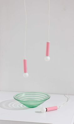 Pink Tubular Pendants — Bi-Rite Studio Ceiling Installation, Pendant Lighting, Pendants, Lights, Pink, Design, Studio, Highlight, Trailers