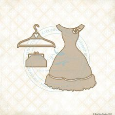 Reneabouquets New Listing~ Blue Fern Studios Laser Cut Chipboard Charlotte's Dress Set, Dress Form