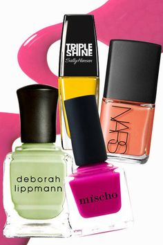 The top 10 nail trends for spring 2014: Tropical Brights