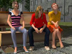 Frauen sitzend Set 1. Ab #EEP8 http://j.mp/Frauen-sitzend-Set-1
