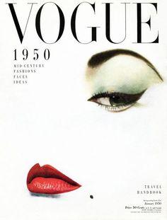 Holiday gift inspiration: A print of a vintage Vogue Cover. Vogue Vintage, Vintage Vogue Covers, Vintage Fashion, 1950s Fashion, Fashion Cover, Fashion Face, High Fashion, Steampunk Fashion, Gothic Fashion