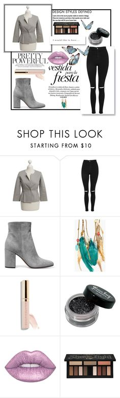 """Untitled #132"" by melly-di ❤ liked on Polyvore featuring Theory, Topshop, Gianvito Rossi, Boohoo, Beautycounter and Kat Von D"