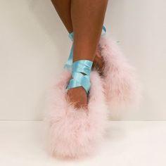 Meadham Kirchhoff Fuzzy Pastel Toe Shoes for Penhaligon's
