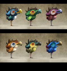 Oisillon / Birdie, color samples
