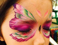 Pink Butterfly/Fairy Mask - Masque  papillon - maquillage - make up - fille - girl - enfants - kids - costume - déguisement - carnaval - carnival - halloween - fête - anniversaire