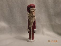 Small Paper Mache Santa by TBCCreations on Etsy