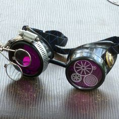 Steampunk Goggles Airship Captain Apocalyptic Mad Scientist Victorian Limited lens goth cyber club house P05