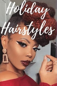 A curated pick of elegant styles to rock for the holiday season. Get Glam, Natural Hair Styles For Black Women, Next Fashion, Holiday Hairstyles, Elegant Styles, Special Events, Hair Beauty, Rock, Nature