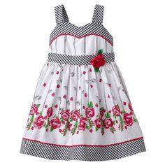 Youngland Floral Swiss Dot Sundress - Toddler
