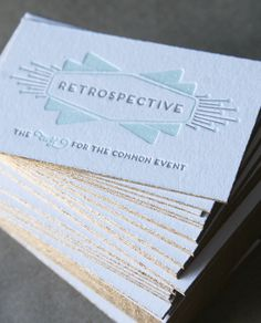 Letterpress Business Cards & Gold Edge Painting, by Cheer Up Press