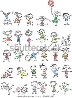 Find Cute Happy Cartoon Kids stock images in HD and millions of other royalty-free stock photos, illustrations and vectors in the Shutterstock collection. Thousands of new, high-quality pictures added every day. Doodle Drawings, Cartoon Drawings, Easy Drawings, Doodle Art, Doodle Kids, Happy Cartoon, Cartoon Kids, Drawing For Kids, Art For Kids