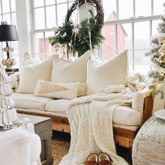 Farmhouse Christmas Sunroom