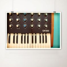 Analog Keyboard Fine Art Print-Vintage Piano Synthesizer Music Retro Mid Century Wholesale by TheLightFantastic on Etsy https://www.etsy.com/listing/53503989/analog-keyboard-fine-art-print-vintage