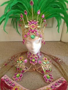 Green and purple samba costume